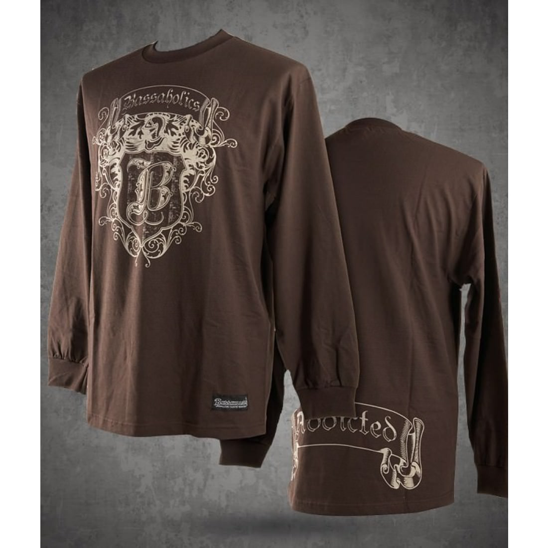 Coat of Arms Long Sleeve Shirt Brown