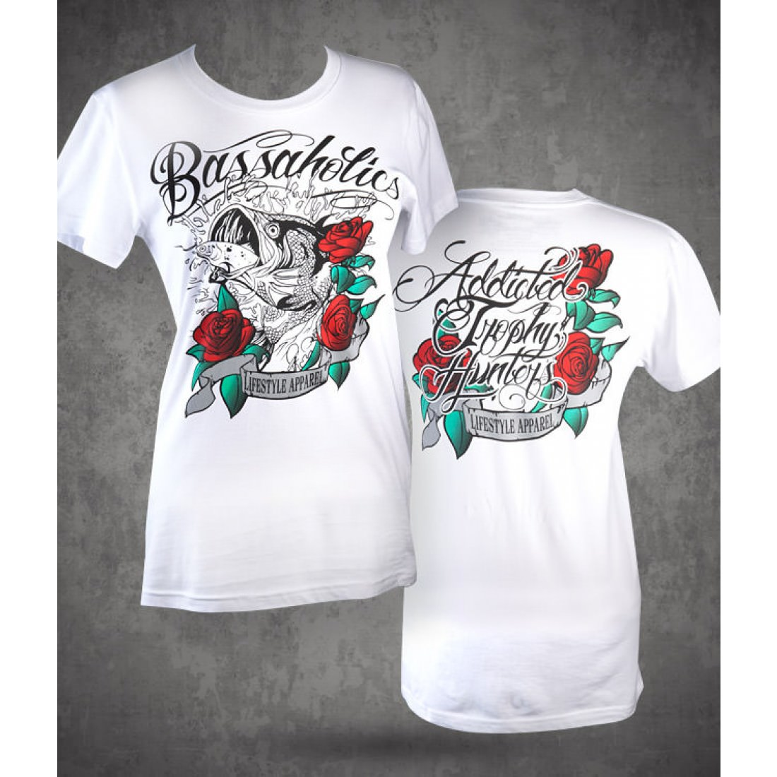 Rose Scroll Womens White