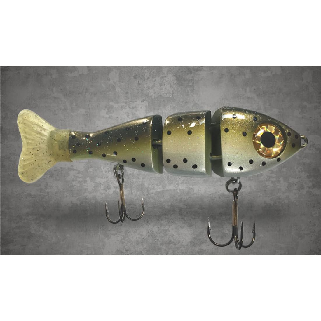 Triple Trout Stubby Swimbait in Light Trout Heavy ROF 5 inch